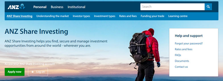 anz share investing