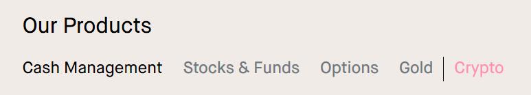 trade stocks, crypto, gold